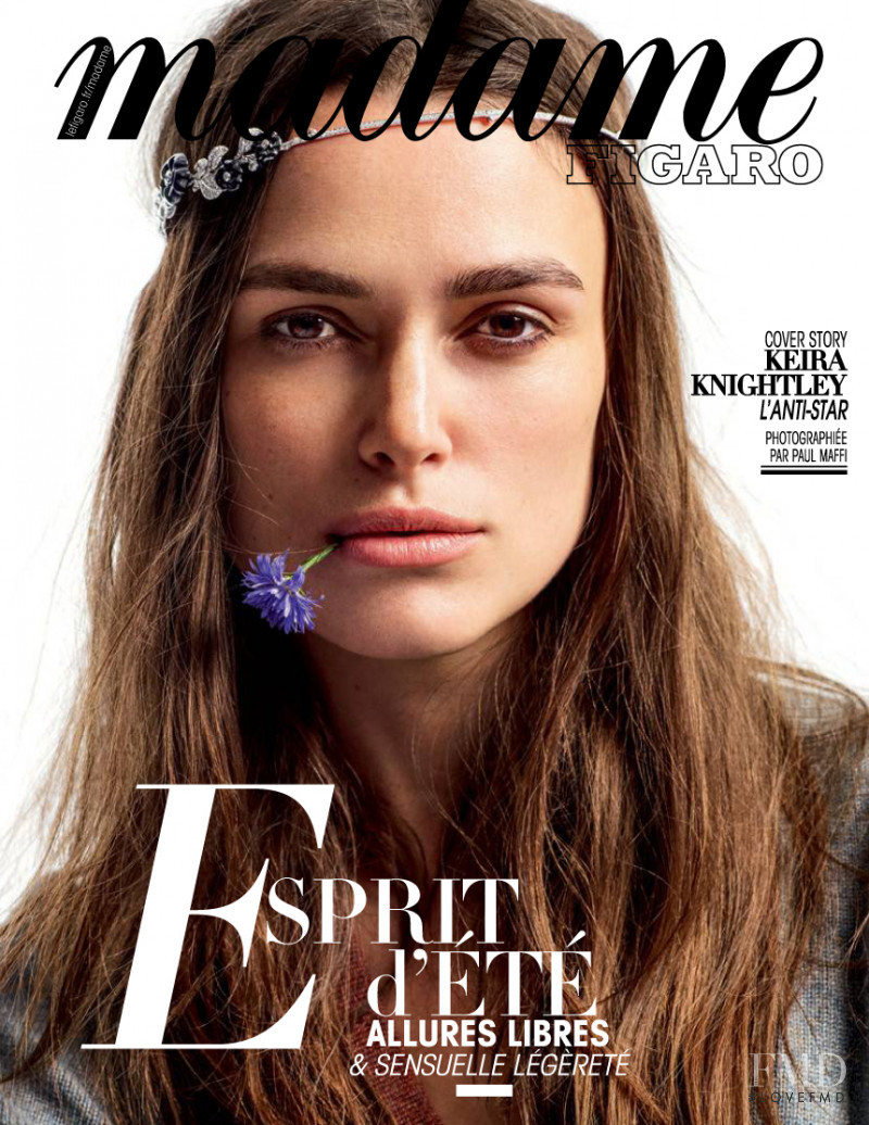 Keira Knightley featured on the Madame Figaro France cover from July 2016