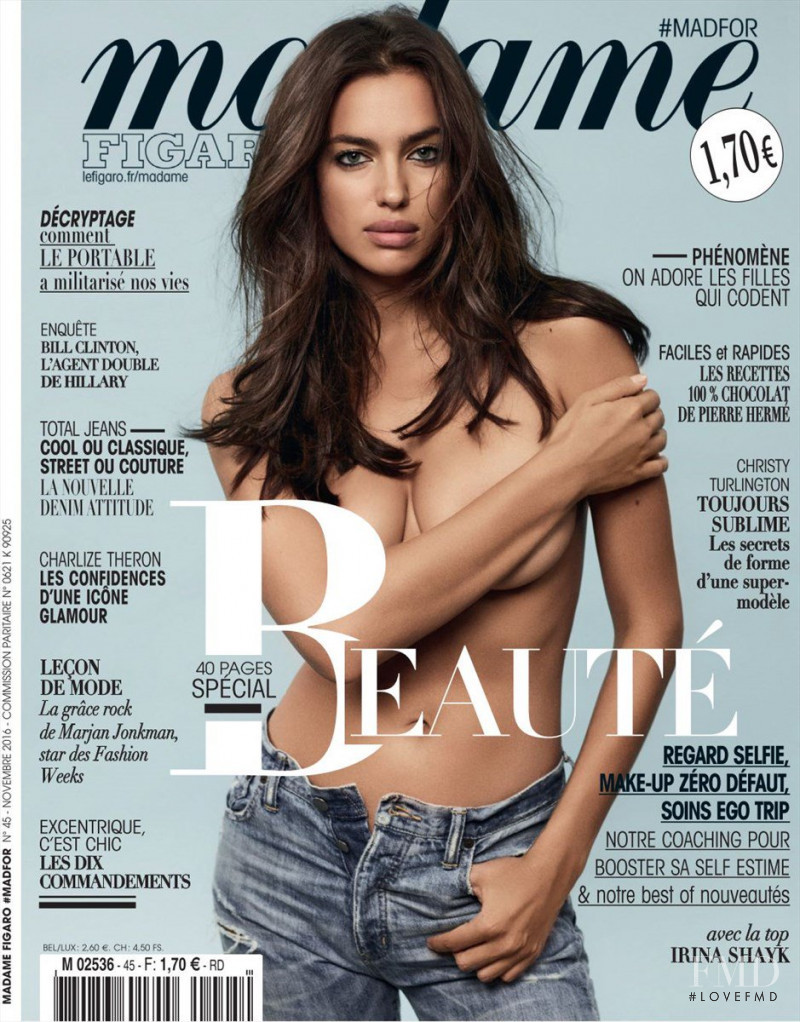 Irina Shayk featured on the Madame Figaro France cover from October 2016