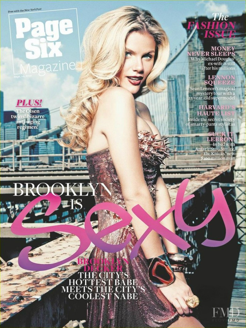 Brooklyn Decker featured on the Page Six Magazine cover from September 2010