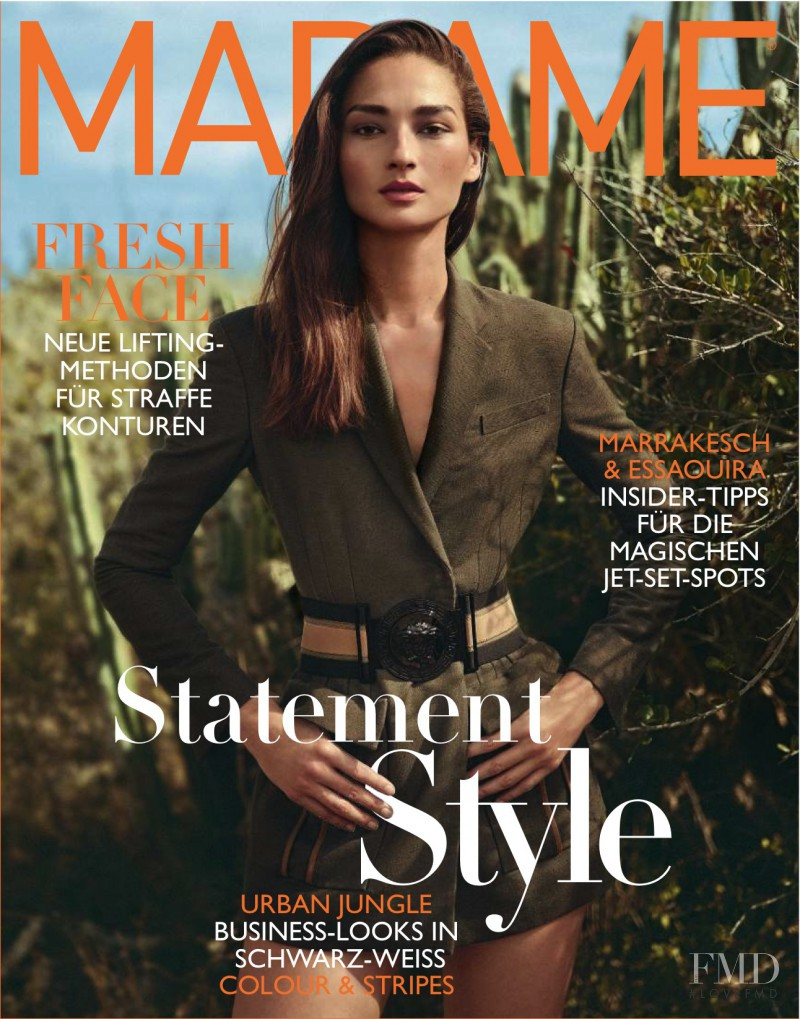 Bruna Ten�rio featured on the Madame cover from March 2016
