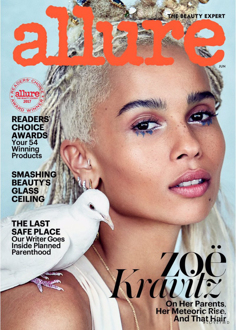 Zoe Kravitz featured on the Allure cover from June 2017