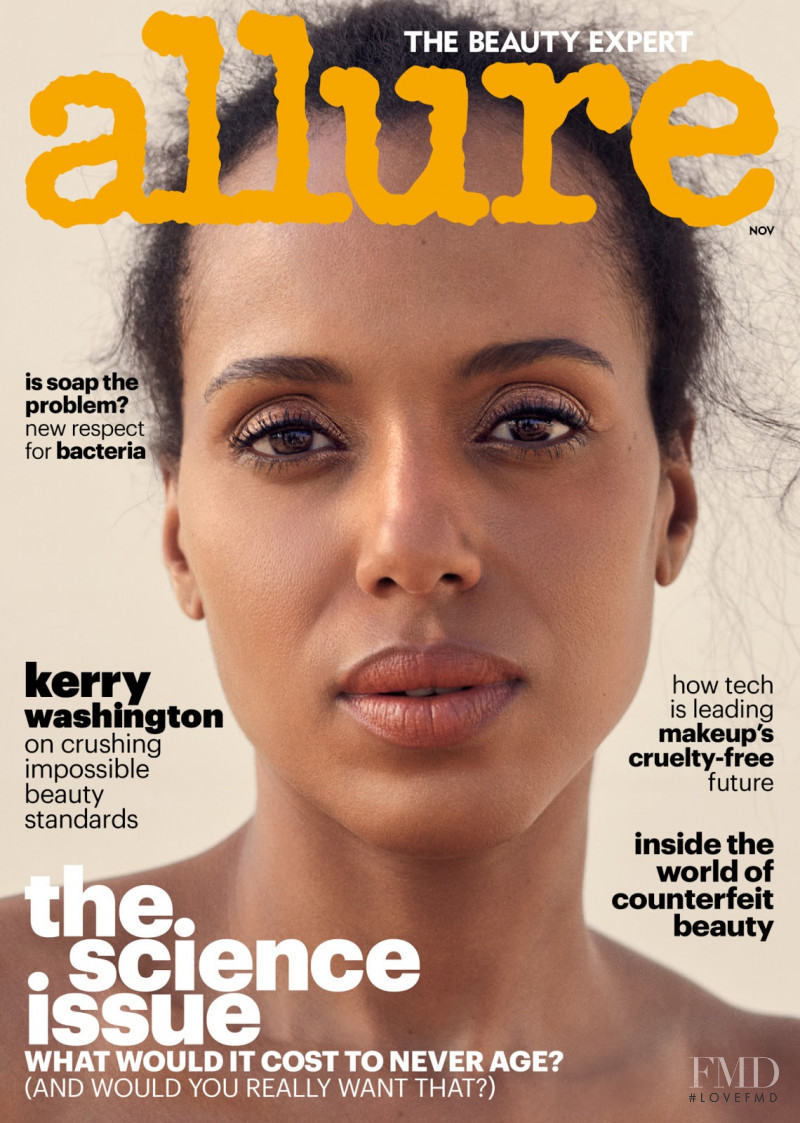 Kerry Washington featured on the Allure cover from November 2017