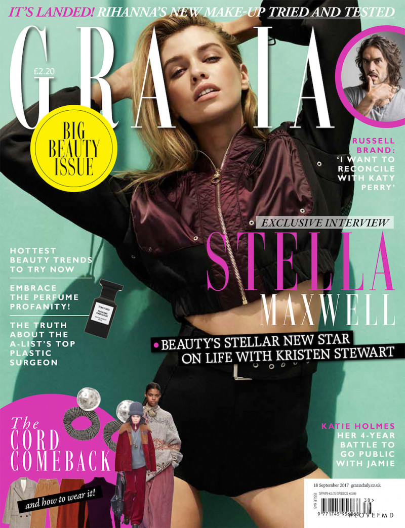 Stella Maxwell featured on the Grazia UK cover from September 2017