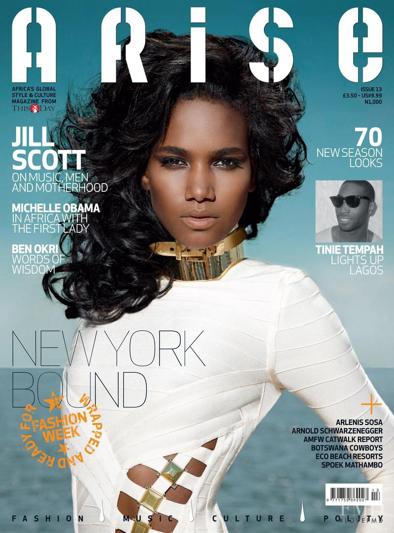 Arlenis Sosa featured on the Arise cover from September 2011