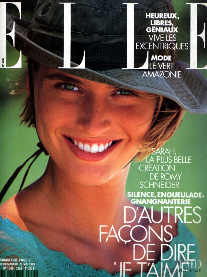 Cathy Fedoruk featured on the Elle France cover from May 1989