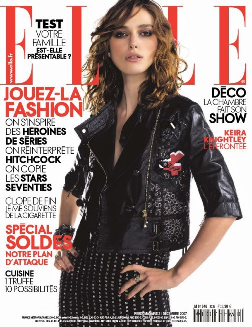 Covers of Elle France with Keira Knightley, 000 2007 ...