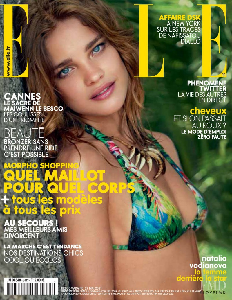 Natalia Vodianova featured on the Elle France cover from May 2011
