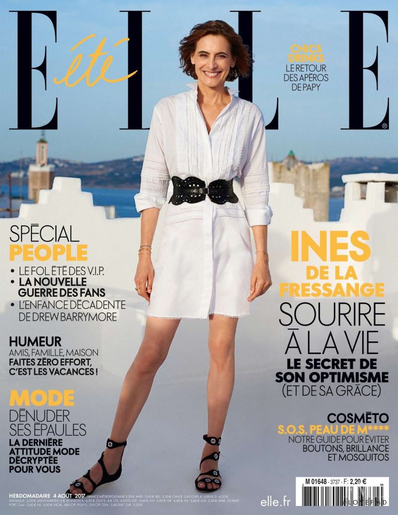 Ines de la Fressange featured on the Elle France cover from August 2017