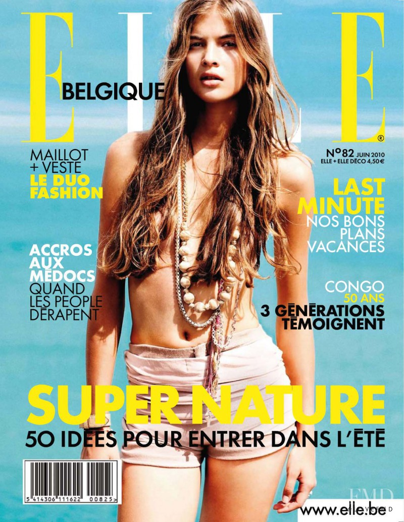 Thais Rumpel featured on the Elle Belgium cover from June 2010