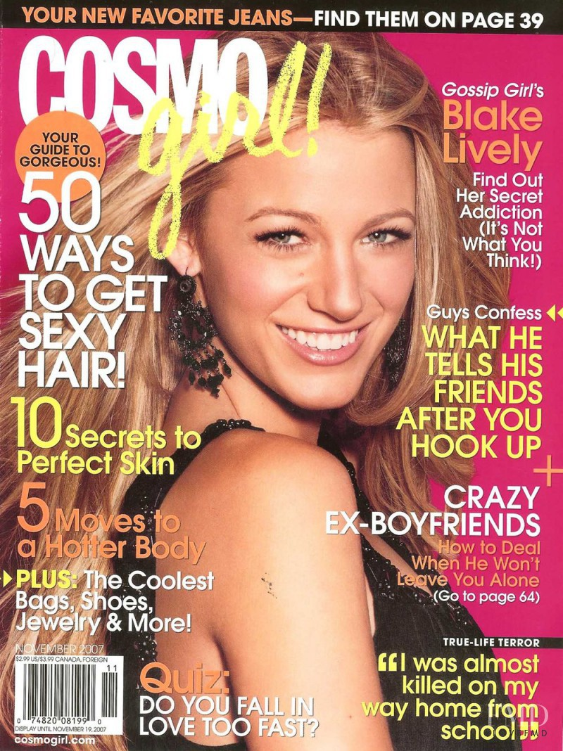 Cover of Cosmogirl USA with Blake Lively, November 2007 ...
