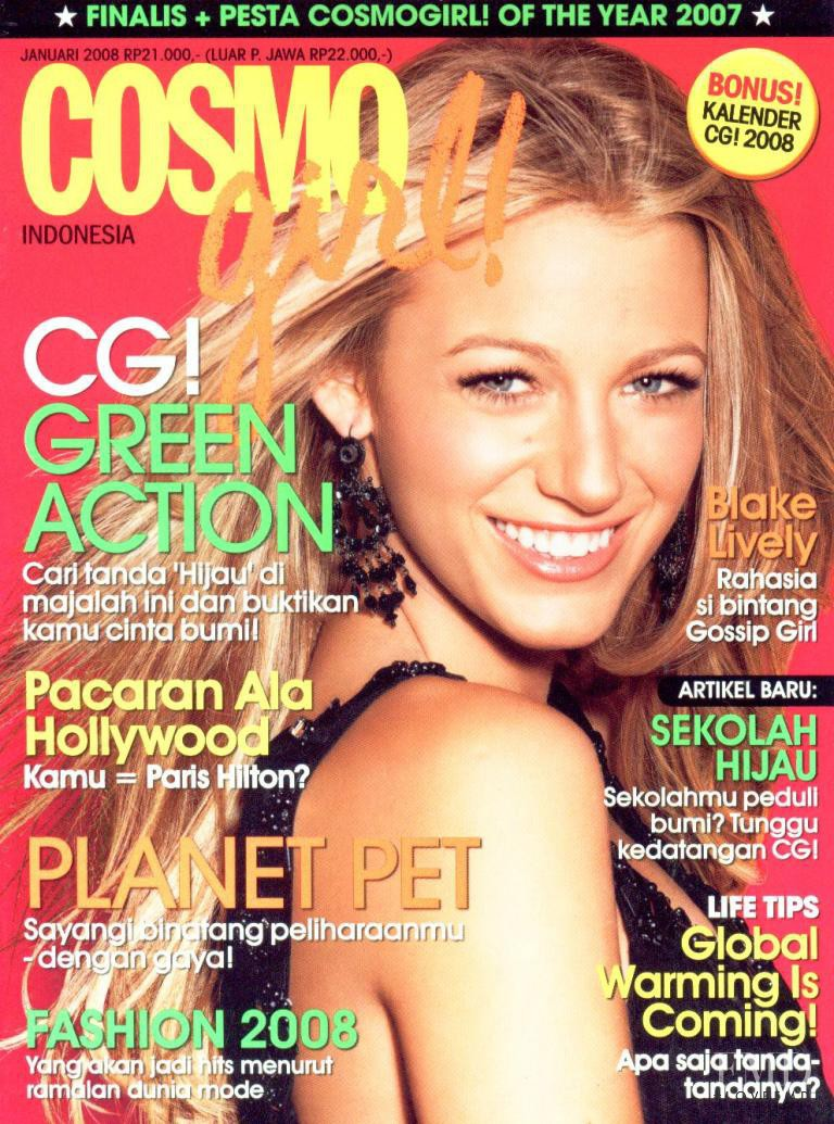 Cover of Cosmogirl Indonesia with Blake Lively, January ...