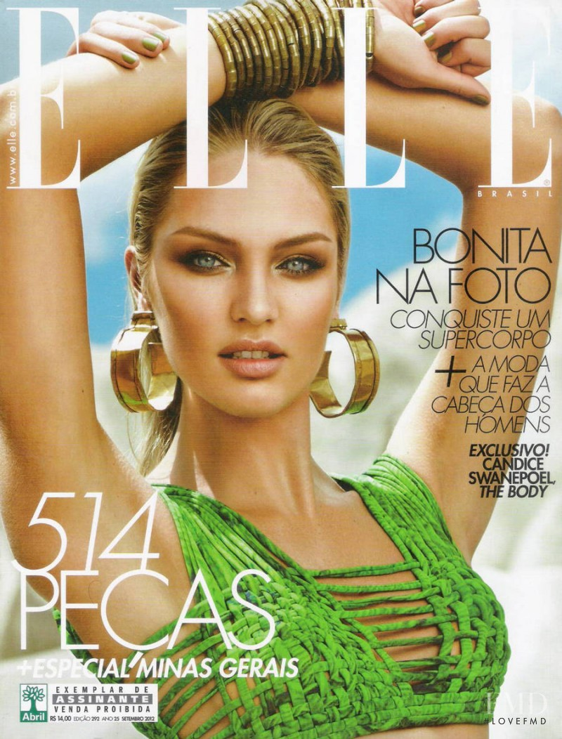Candice Swanepoel featured on the Elle Brazil cover from September 2012