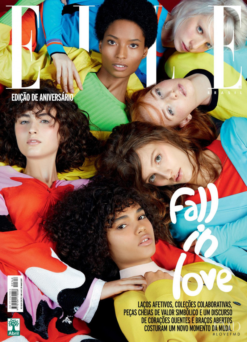 Sarah Berger featured on the Elle Brazil cover from May 2017