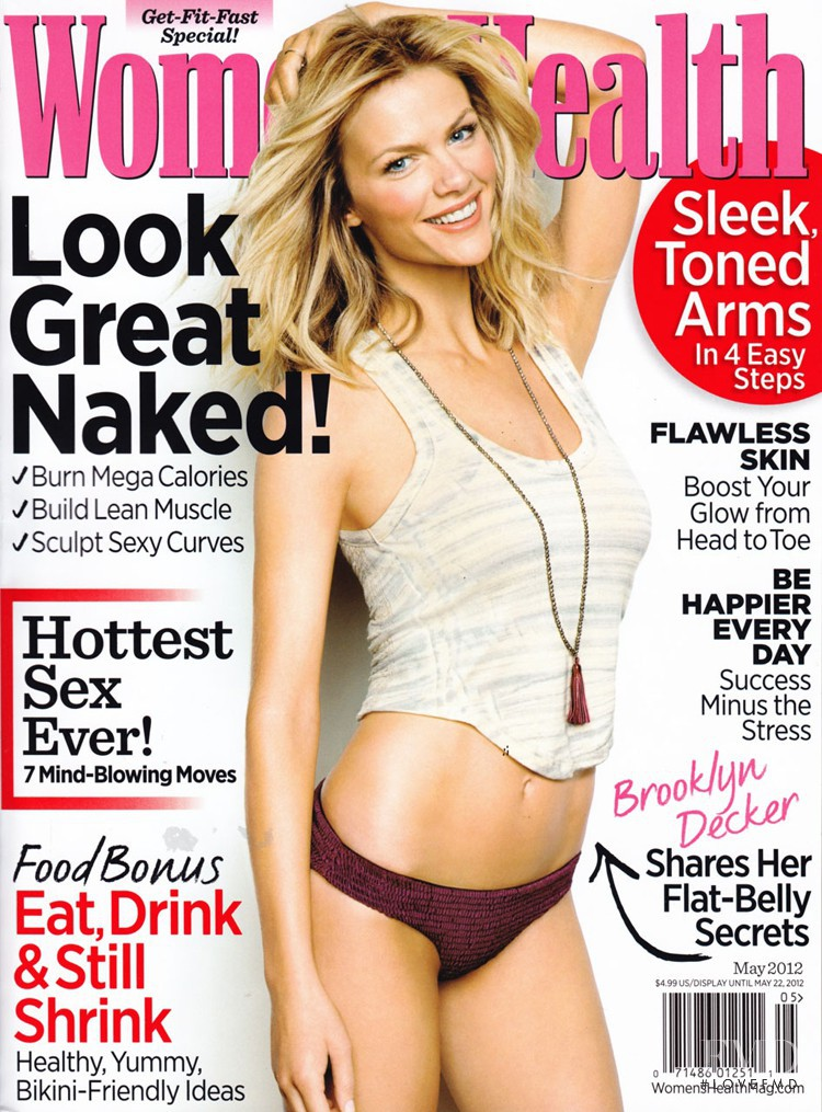 Brooklyn Decker featured on the Women\'s Health cover from May 2012