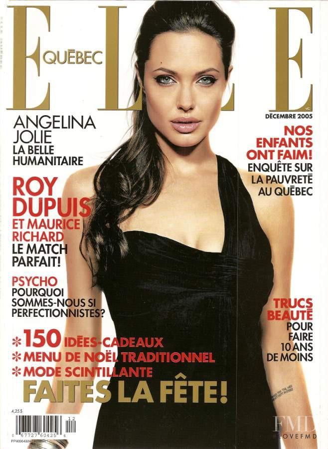 Jolie Magazine November 2017 Issue: Cover Of Elle Quebec With Angelina Jolie, December 2005