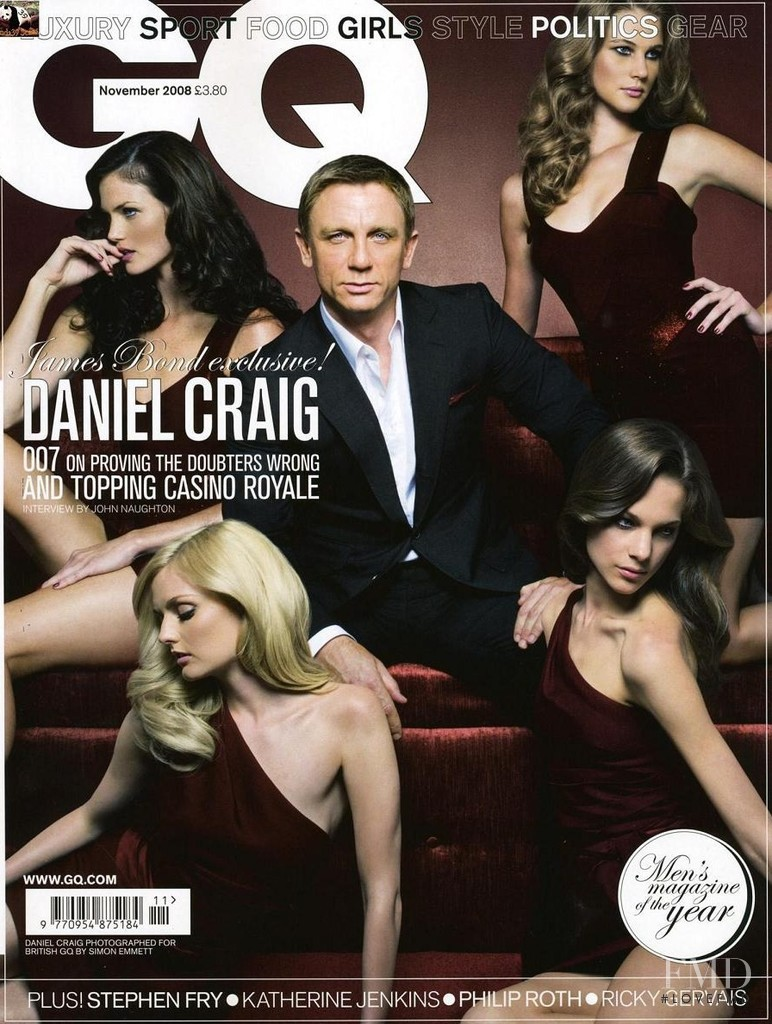 Daniel Craig featured on the GQ USA cover from November 2008