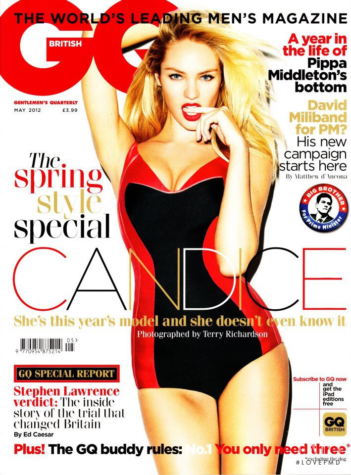 Candice Swanepoel featured on the GQ UK cover from May 2012