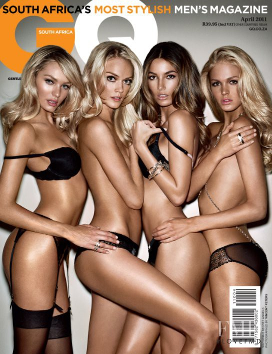 Lily Aldridge, Candice Swanepoel, Lindsay Ellingson, Erin Heatherton featured on the GQ South Africa cover from April 2011