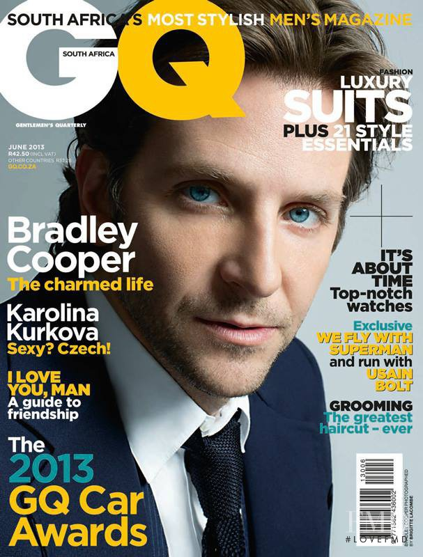 Cover of GQ South Africa with Bradley Cooper, June 2013 ...