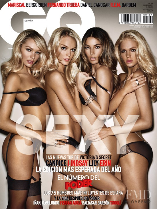 Lily Aldridge, Candice Swanepoel, Lindsay Ellingson, Erin Heatherton featured on the GQ Spain cover from March 2011