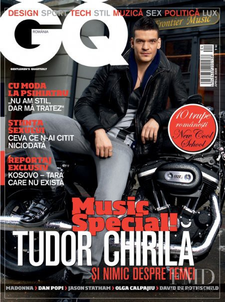 Tudor Chirila featured on the GQ Romania cover from April 2009