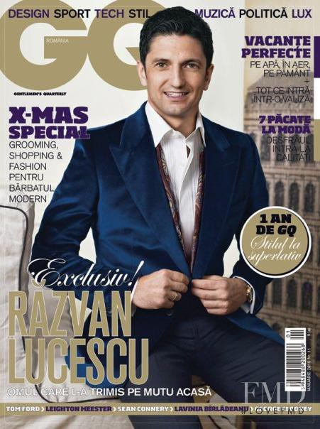 Razvan Lucescu featured on the GQ Romania cover from January 2010