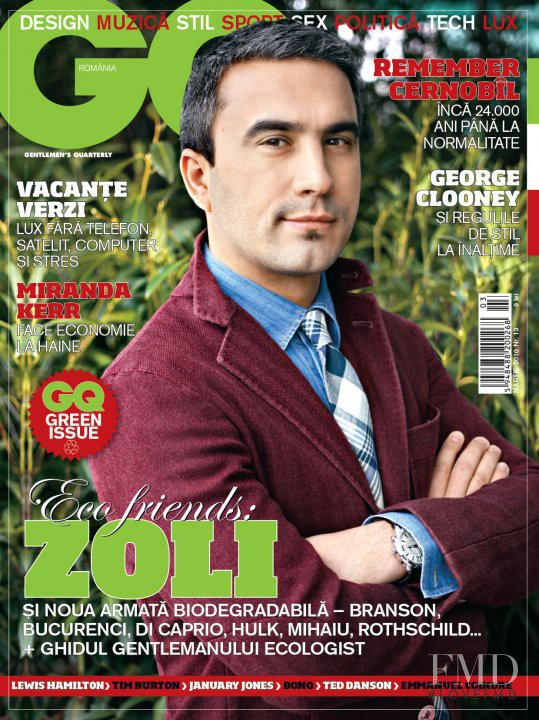 featured on the GQ Romania cover from March 2010
