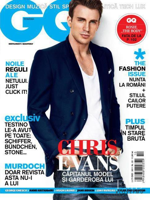 Chris Evans featured on the GQ Romania cover from October 2011