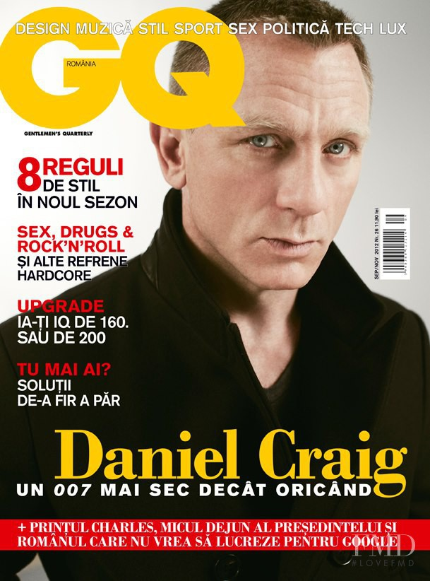 Daniel Craig featured on the GQ Romania cover from September 2012