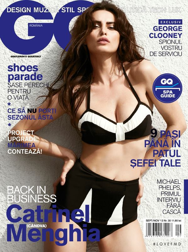 Catrinel Menghia featured on the GQ Romania cover from September 2013