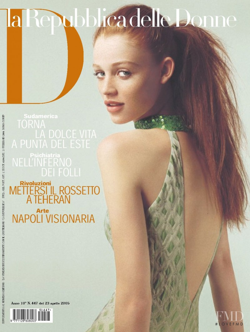 Cintia Dicker featured on the La Repubblica delle Donne cover from April 2005
