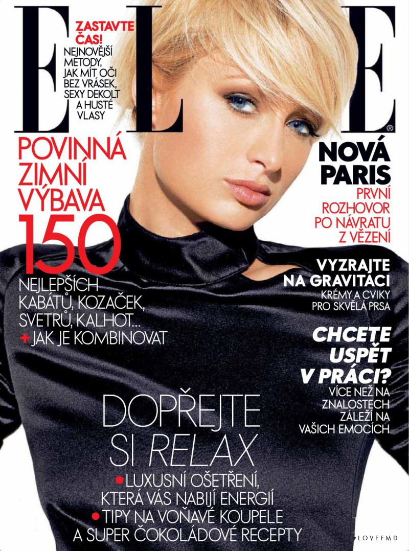 Paris Hilton featured on the Elle Czech cover from November 2007