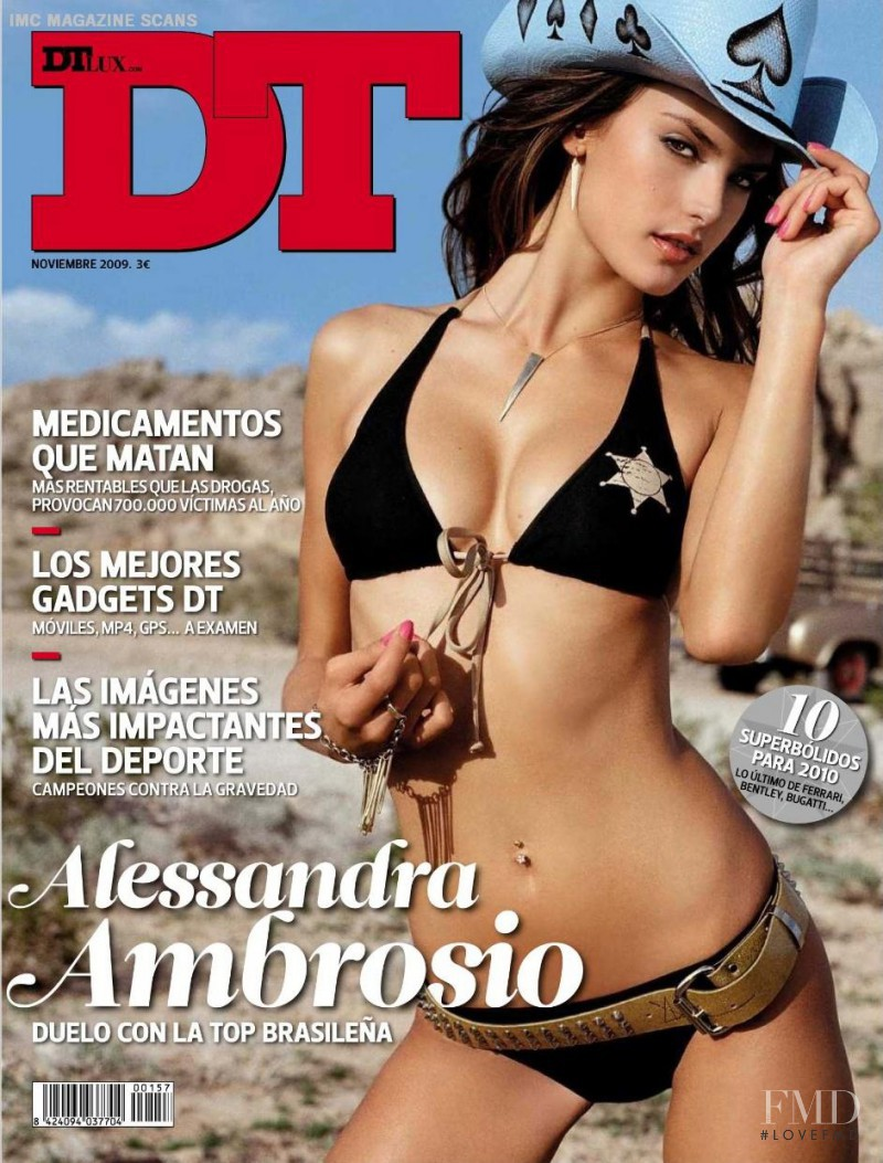 Alessandra Ambrosio featured on the DTLux cover from November 2009
