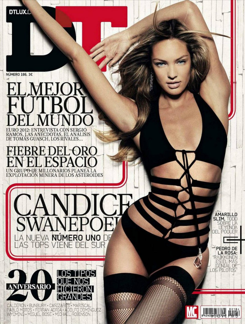 Candice Swanepoel featured on the DTLux cover from June 2012
