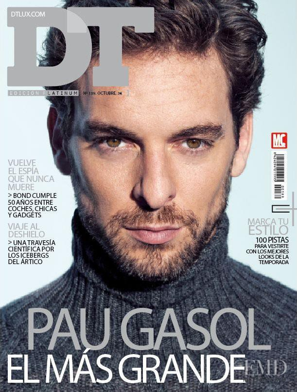 Pau Gasol featured on the DTLux cover from October 2012