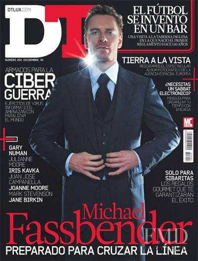 Michael Fassbender featured on the DTLux cover from December 2013