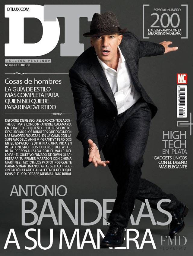 Antonio Banderas featured on the DTLux cover from October 2013