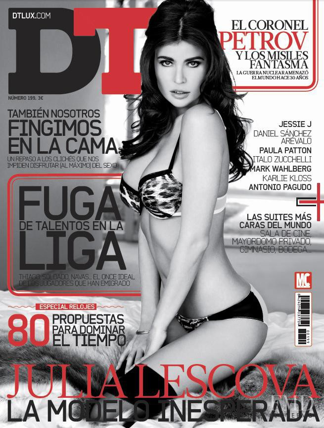 Julia Lescova featured on the DTLux cover from September 2013