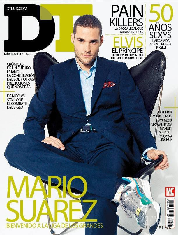 Mario Suarez featured on the DTLux cover from January 2014