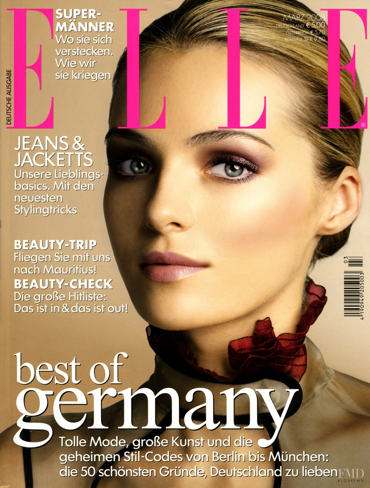 cover of elle germany with valentina zeliaeva march 2008 id 8086 magazines the fmd. Black Bedroom Furniture Sets. Home Design Ideas