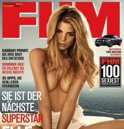 Model: Sylvie Van Der Vaart FHM Germany January 2010: ru_glamour