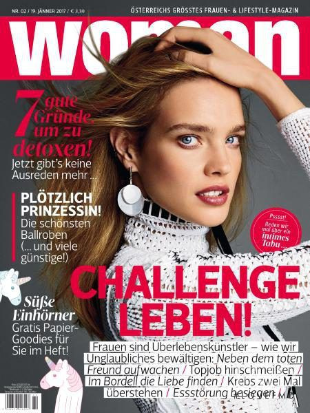 Natalia Vodianova featured on the WOMAN cover from January 2017
