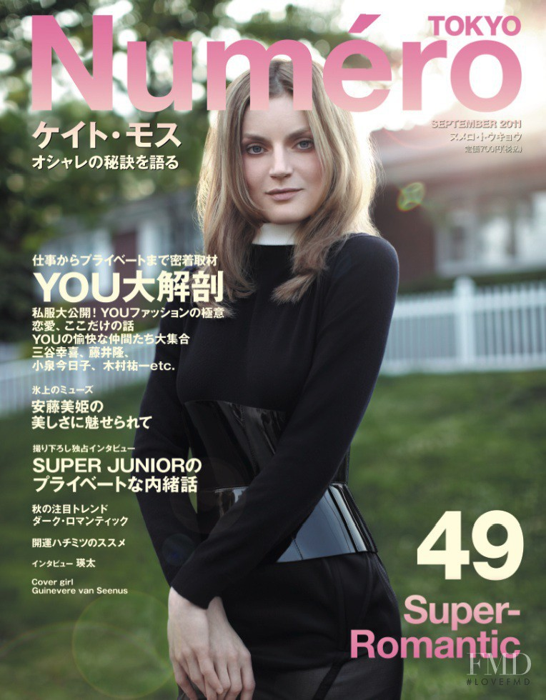 Guinevere van Seenus featured on the Num�ro Tokyo cover from September 2011