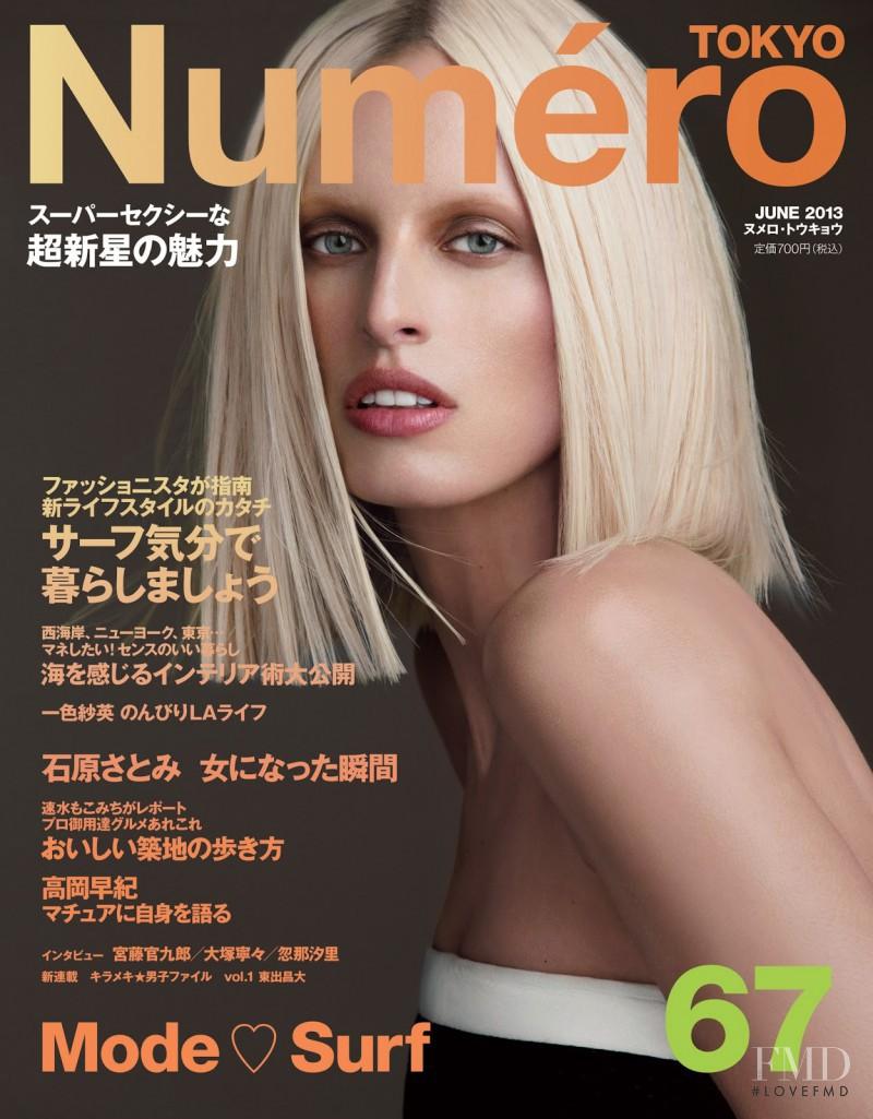 Karolina Kurkova featured on the Num�ro Tokyo cover from June 2013