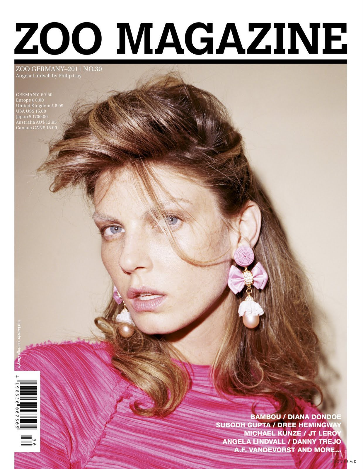 Cover of Zoo Magazine with Angela Lindvall, March 2011 (ID ... - photo#10