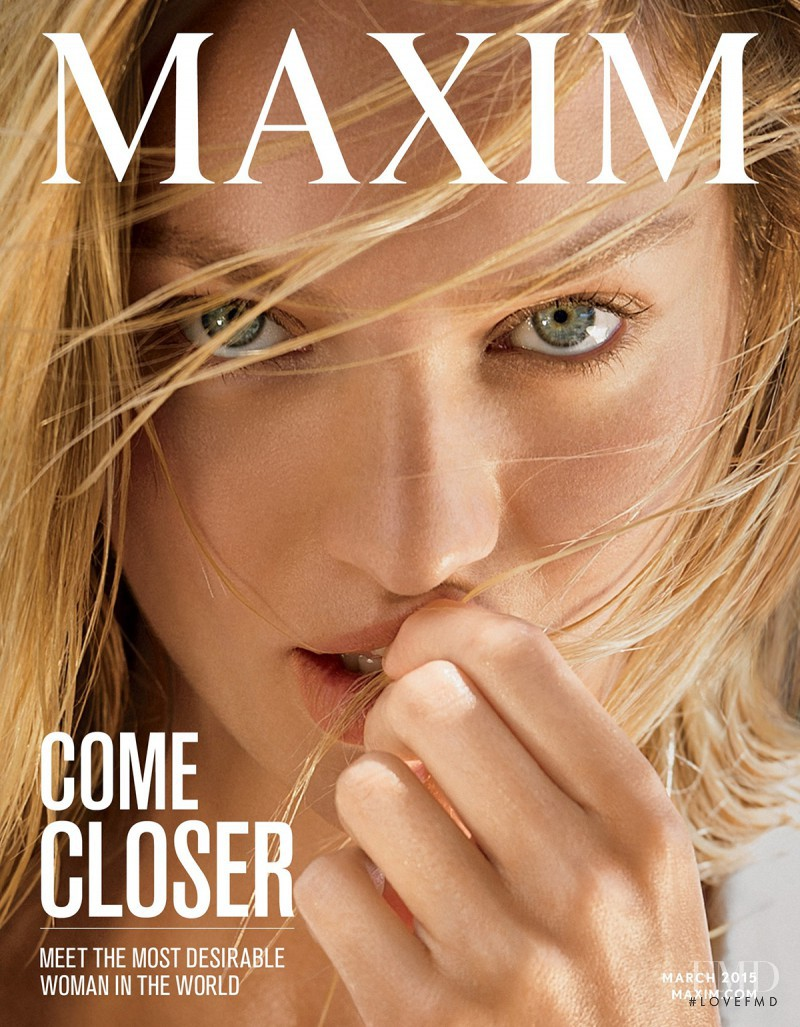 Candice Swanepoel featured on the Maxim USA cover from March 2015