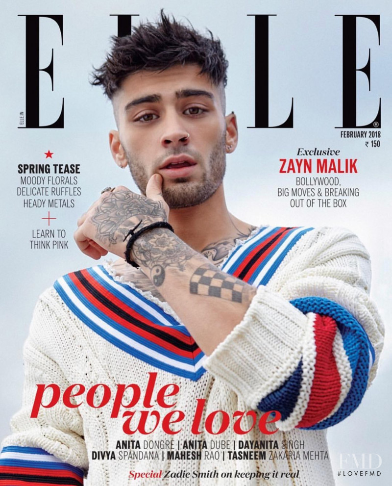 Zayn Malik featured on the Elle India cover from February 2018