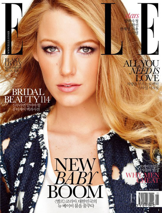 Cover of Elle Korea with Blake Lively, May 2011 (ID:13648 ...