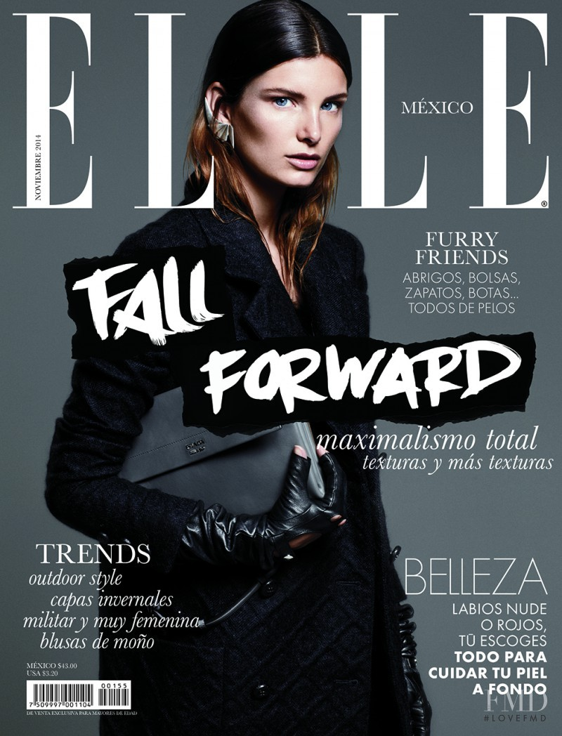 Ava Smith featured on the Elle Mexico cover from November 2014