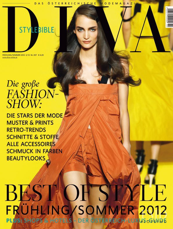 Zuzanna Bijoch featured on the DIVA cover from March 2012